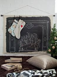 clever faux mantel wall hanging for the holidays hgtv