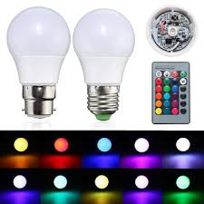 color changing light bulb with remote 3w e27 b22 dimmable rgb led light color changing l bulb 24 key
