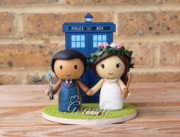 dr who cake topper terrific doctor who meets vire slayer wedding cake topper