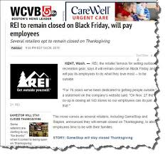 outdoor gear retailer rei decides to stay closed on black friday