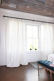 Crate And Barrel Curtain Rods Decor Get The Look White Linen Drapes Nature Decor Linens And Living