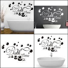 hot sale bath time ducks soak relax quote wall sticker removable hot sale bath time ducks soak relax quote wall sticker removable decals bathroom decor art stickers clings for kids from yyd