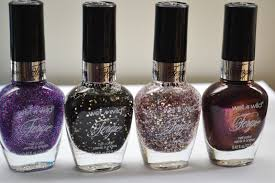 wet n wild fergie nail polish collection swatches 4 shades