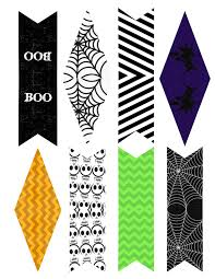 halloween printable bookmarks halloween banner bunting free printable paper trail design