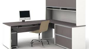 l shaped desk with hutch left return desk fantastic l shaped desk with left return prodigious l