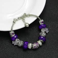handmade charm bracelet images Handmade fibromyalgia awareness charm bracelet bella 39 s yard jpg
