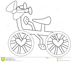 free tandem bike coloring book page