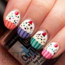 birthday cupcake nail art the little canvas