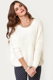white sweater fuzzy sweater white sweater pullover sweater 34 00