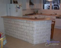 habillage mur cuisine implantation cuisine avec retour bar ou passe plat