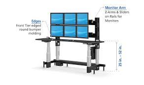 Electric Stand Up Desk Adjustable Sit Stand Up Security Desk Afcindustries Com
