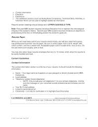employment resume exles profile section resume exle sections of a references 5