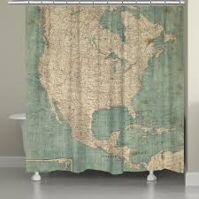 North Anerica Map North America Map Shower Curtain U2013 Laural Home