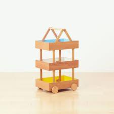 koloro wagon stacking wooden storage boxes by torafu architects
