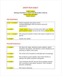 Event Fact Sheet Template Run Sheet Template 6 Free Word Excel Pdf Document