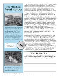 the attack on pearl harbor 7th grade reading comprehension worksheet