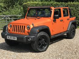 orange jeep rubicon used 2009 jeep wrangler unlimited sport for sale in