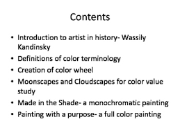 color wheel and tints and shades and fun abstract paintings by