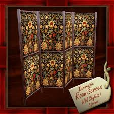 Privacy Screen Room Divider Second Life Marketplace Antique Decorative Room Divider