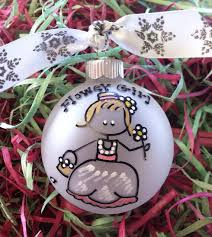 flower girl christmas ornament personalized