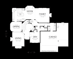 Floor Plans With Spiral Staircase Mascord House Plan 2213dc The Duson