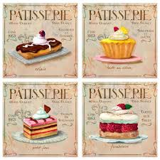Vintage French Home Decor Patisserie French Bakery Wall Decal Set Vintage Style Home Decor