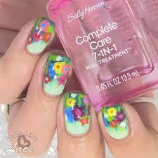 nailslikelace field of wildflowers feat sally hansen nail art