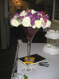 Martini Glass Vase Flower Arrangement Arrangements Readyplanted