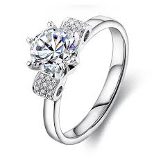 girl wedding rings images Unique designer 1ct micro paved synthetic diamond ring for girl jpg