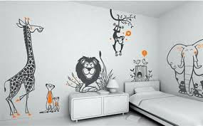 kids room wallpaper wood stained side bed table cotton transparent