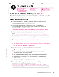 The Ideal And Combined Gas Laws Worksheet Answers 12 The Behavior Of Gases