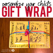 simple personalized gift wrap for