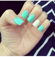 tiffany blue and white nails my nails done by lee at get nailed