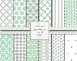 mint wrapping paper mint gray wallpaper etsy