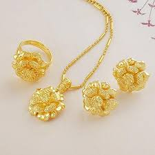 bridal gold ring wholesale wedding jewelry sets bridal suite of high imitation