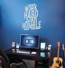 work hard stay humble wall sticker vinyl impression work hard stay humble wall sticker in by vinyl impression