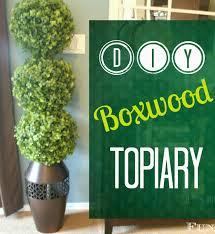 Herb Topiaries Pneumatic Addict Diy Boxwood Topiary