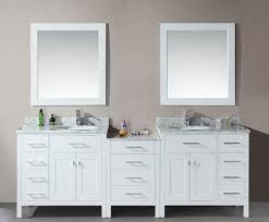 modern double sink bathroom vanity wall mounted mirror mounted
