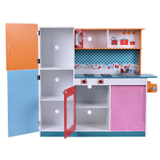 Pretend Kitchen Furniture Wood Toy Kitchen Cooking Pretend Play Set Toy Kitchens U0026 Play