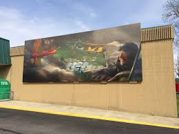 airport mural in brodhead cheeseland chapter eaa 431 brodhead wall murals in town representing periods in the city s history this one features brodhead airport and is mounted on the front wall of the piggly wiggly