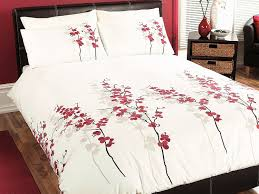 Bedding Cover Sets by Oriental Flower U0027 Double Duvet Cover Set In Red Includes 1x