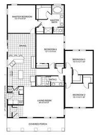 simple 4 bedroom house plan home design ideas