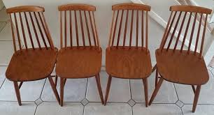 Ercol Dining Chair Vintage Retro Set Of 4 Ercol Style Stick Back Dining Chairs