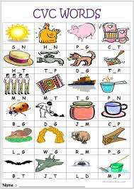 thanksgiving vocabulary words 15 free esl cvc words worksheets