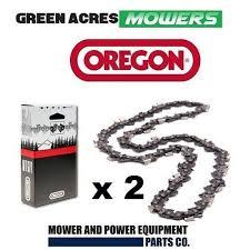 2 x chains oregon chainsaw chain fits 15