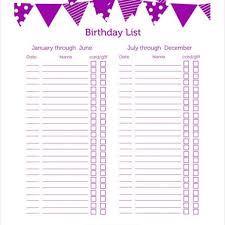gift list birthday gift list template journalingsage