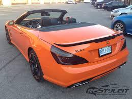 orange mercedes mercedes sl63 fire orange wrap vehicle customization shop