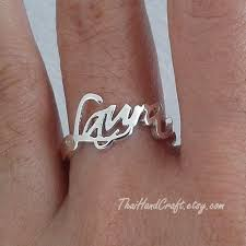 rings with children s names 31 best baby name rings images on name rings etsy