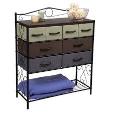 Metal Storage Cabinet With Drawers Amazon Com Household Essentials 8 Drawer Chest Black Home U0026 Kitchen