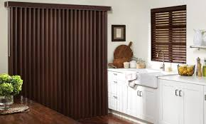 Touched By Design Blinds Mahogany Faux Wood Vertical Blinds From Levolor Blinds